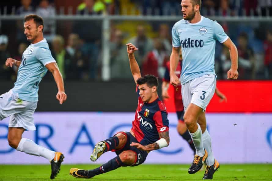 Pietro Pellegri scores against Lazio but it wasn't enough in a 3-2 defeat.