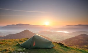 John had never been on a camping trip before but found it cheaper than a usual holiday, and said the Lake District was 'gorgeous'.