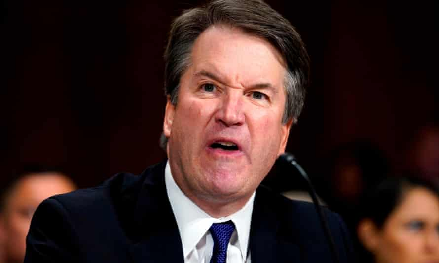 Brett Kavanaugh testifies before a Senate confirmation hearing in September 2018