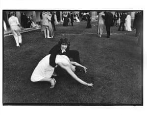Alexander Fyjis-Walker dancing with Sarah Fazakerly during the Trinity ball, Cambridge, 15 June 1981