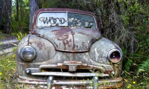 Old car in Victoria, Australia slowing being consumed by nature