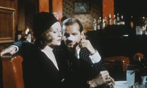Faye Dunaway and Jack Nicholson