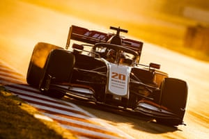 Kevin Magnussen during a Haas testing session