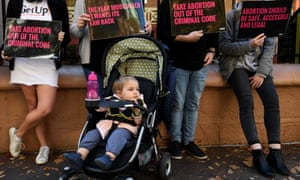 Protesters wanting abortion decriminalised