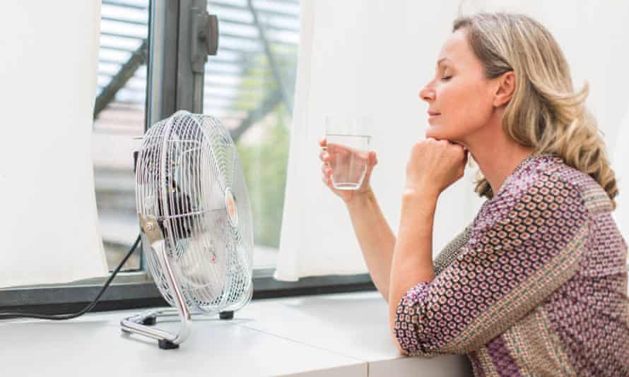 Fans and improved ventilation can provide relief for women.