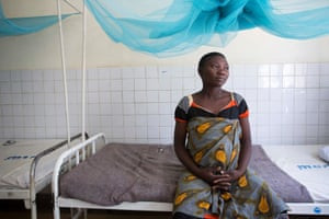 Agnes Noti, 22, is in the Kiomboi hospital, Iramba district, Tanzania, expecting her third child