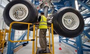 Testing the A350 landing gear at Filton.