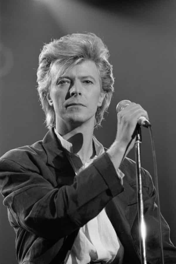 Bowie in 1984 … Black and white star.