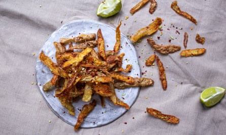 Potato peel crisps.