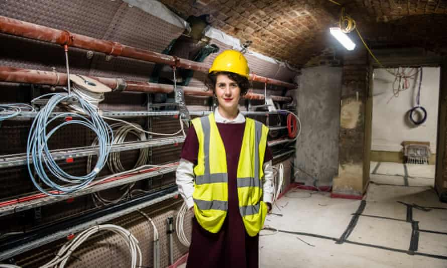 Sonia Solicari, the museum's director, in one of the new exhibition areas under construction.