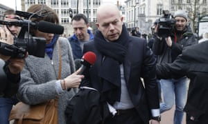 Sven Mary awyer of key suspect in the Paris terror attacks Salah Abdeslam, arrives to the Council Chamber of Brussels.