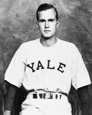Captain of the Yale baseball team, Bush played in the first College World Series in 1947.
