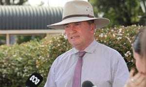Barnaby Joyce speaks to the media in Tamworth on Tuesday