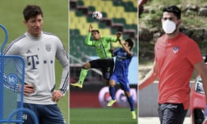 Bayern Munich's Robert Lewandowski attends a training session this week, South Korea opens football's post-coronavirus era without fans and Diego Costa arrives for a coronavirus test in Madrid.
