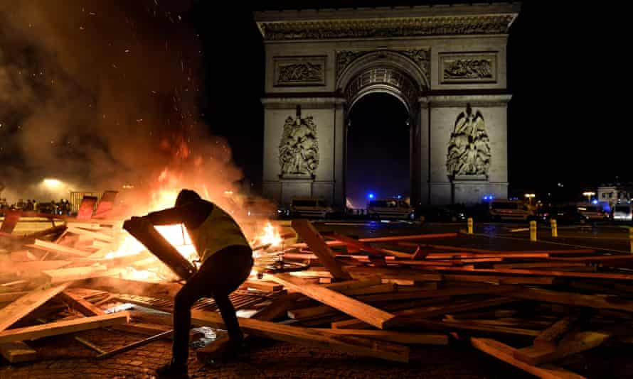 Flames at the Arc de Triomphe in Paris in November.