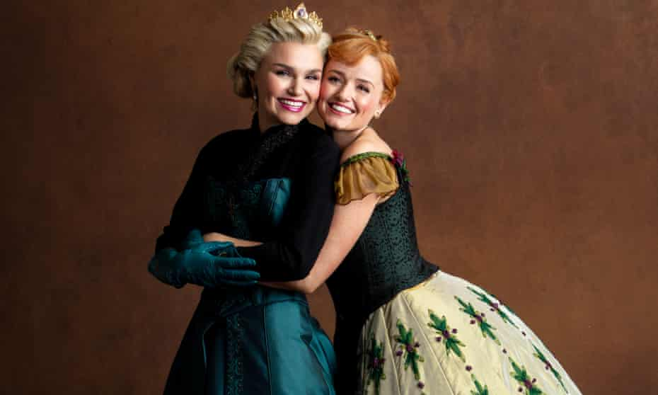 Samantha Barks and Stephanie McKeon, who star as Elsa and Anna in the West End version of Frozen.