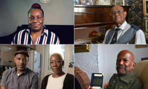 Judy Griffith, Allan Wilmot, Alford Gardner, Anthony Bryan and Janet McKay-Williams, contributors to The Unwanted: The Secret Windrush Files.