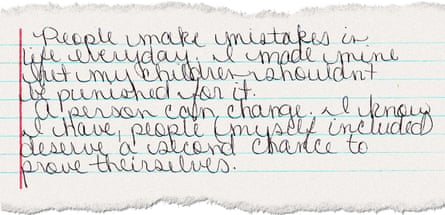 Snippet of letter from Amanda Kimbrough