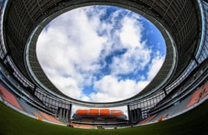 A wide angle view of Ekaterinburg Arena.