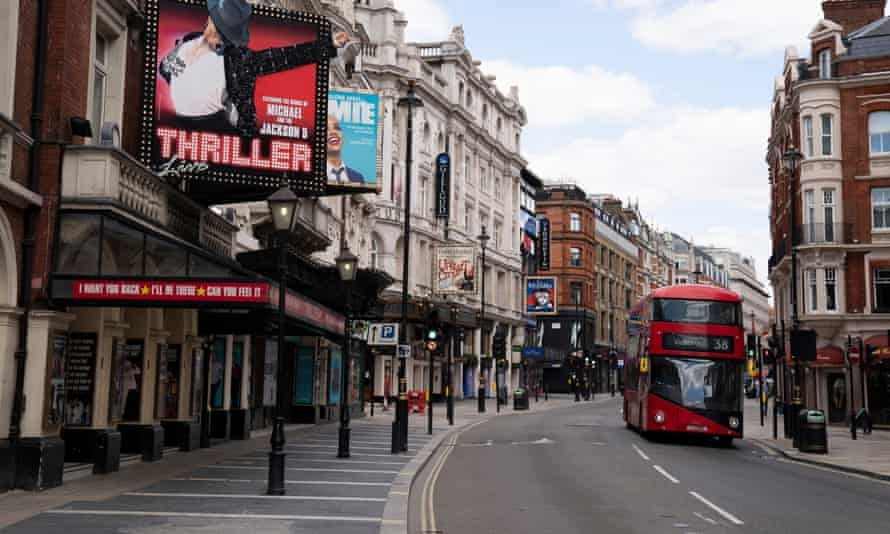 Bleak outlook … London's West End.