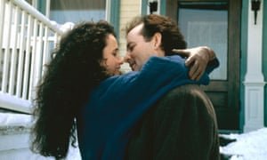 Murray with Andie MacDowell in Groundhog Day.
