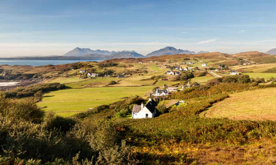 The village of Tarskavaig on the Isle of Skye, where the Gaelic television series Bannan is filmed.