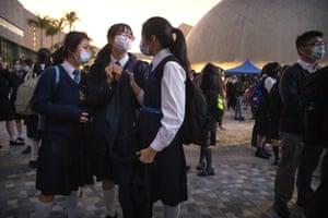 School students in Hong Kong.