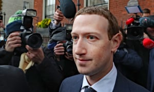 Facebook CEO Mark Zuckerberg in Dublin on 2 April 2019 after a meeting with Irish politicians to discuss regulation of social media.