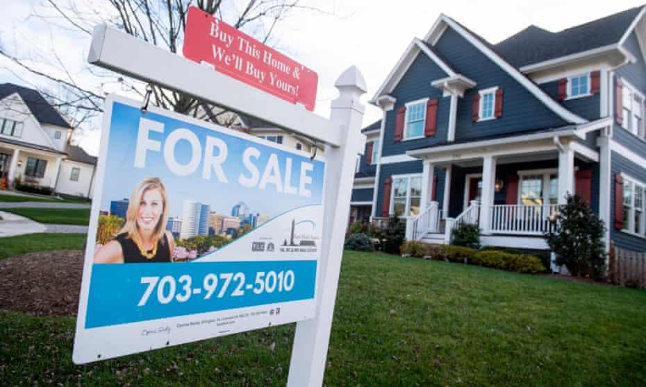 A house for sale in Arlington, Virginia on 19 November 2020.