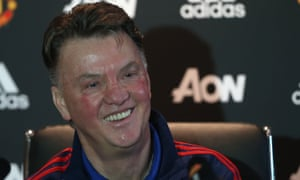 Manchester United manager Louis van Gaal at a press conference on Friday.