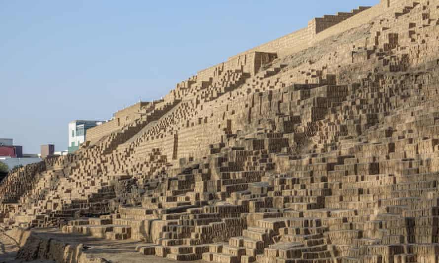 The Inca ruins of Huaca Pucllane in Lima, Peru