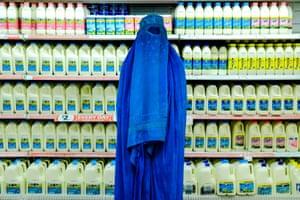 Woman in burqa