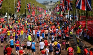 Runners in the London marathon. Skupian's lawyer said it was his dream to run in the race.
