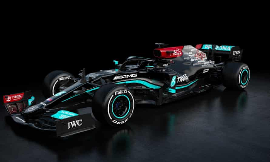 Mercedes' new W12 car for the 2021 season.