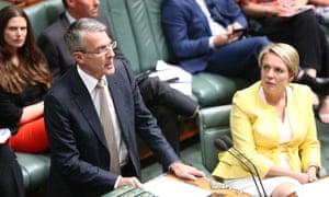 Shadow attorney general Mark Dreyfus and deputy Labor leader Tanya Plibersek in parliament.