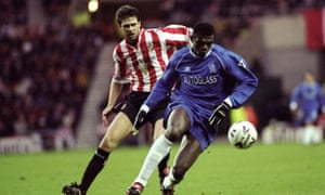 Niall Quinn and Marcel Desailly