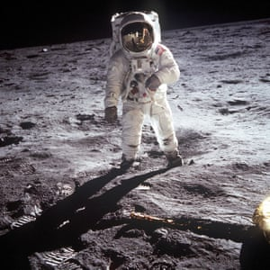 21 July 1969 –Buzz Aldrin, the lunar module pilot for the first moon landing, poses on the lunar surface