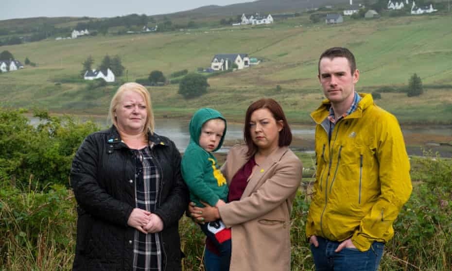 Mandie Harris, Zoe and her husband, Lewis Docherty, with Bradley, Zoe's nephew and Colin's grandson.