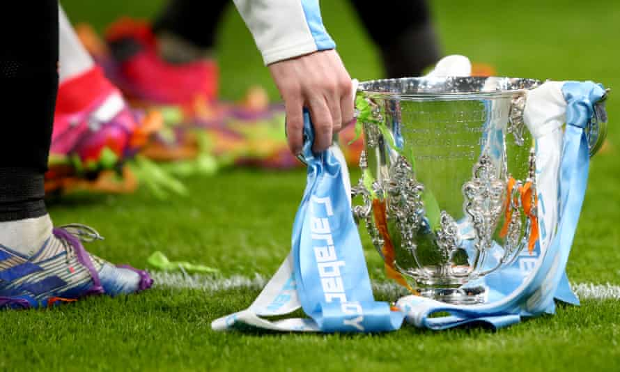 Manchester City's quest for a fourth straight Carabao Cup title will begin at home to either Bournemouth or Crystal Palace.