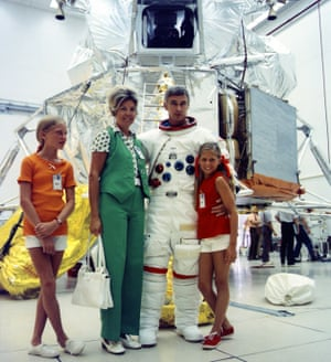 Eugene Cernan with his family in 1972.