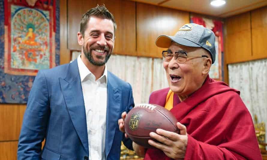 Aaron Rodgers and the Dalai Lama