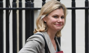 Justine Greening arrives for a cabinet meeting in Downing Street.