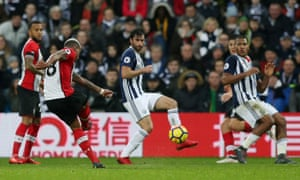 Mario Lemina fires an equaliser into the top-left corner, sparking Southampton's comeback