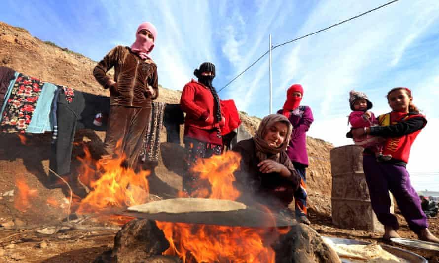 Displaced Yazidis