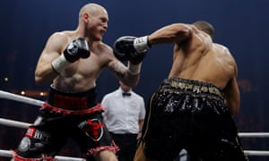 George Groves in action with Chris Eubank Jr.