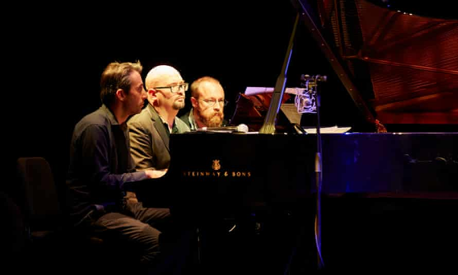 Alex Hawkins, Ethan Iverson and Adam Fairhall at Kings Place, London