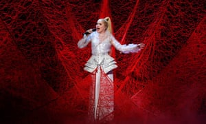 Paloma Faith and one of her typically elaborate stage outfits at the Royal Variety Performance in 2017.