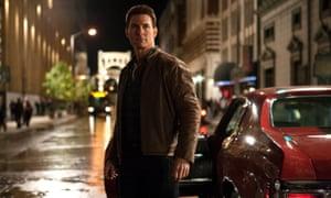 Scene on screen … Tom Cruise in the 2012 film Jack Reacher.