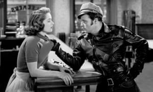 Marlon Brando and Mary Murphy in The Wild One