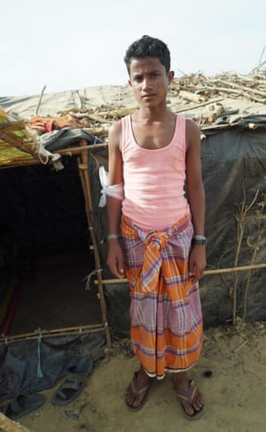 Abdulsalam, 14, only survivor of a family of nine from the village of Chut Pyin, in Myanmar's Killing Fields.